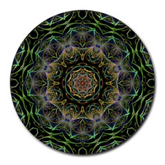 Fractal  Background Graphic Round Mousepads