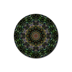 Fractal  Background Graphic Rubber Coaster (round)  by Pakrebo