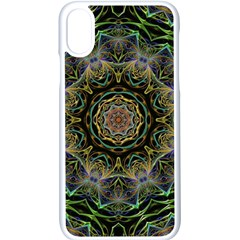 Fractal  Background Graphic Apple Iphone X Seamless Case (white)