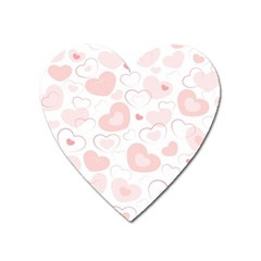 Pastel Pink Hearts Heart Magnet by retrotoomoderndesigns