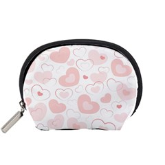 Pastel Pink Hearts Accessory Pouch (small)
