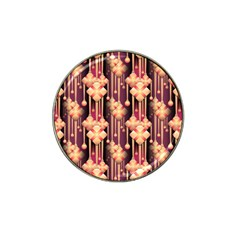 Seamless Pattern Plaid Hat Clip Ball Marker (4 Pack)