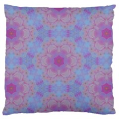 Violet Mandala Floral Pattern Large Flano Cushion Case (two Sides) by WensdaiAddamns