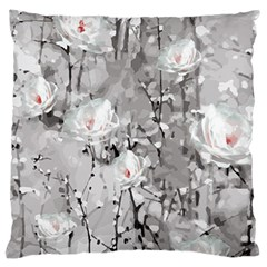Blossoming Through The Snow Large Flano Cushion Case (two Sides) by WensdaiAddamns