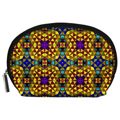 Tile Background Image Graphic Abstract Accessory Pouch (large)