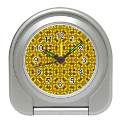 Tile Background Image Graphic Yellow Travel Alarm Clock