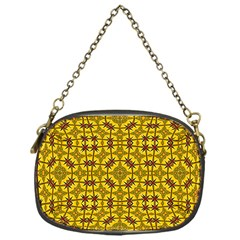 Tile Background Image Graphic Yellow Chain Purse (one Side)