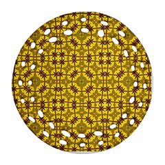 Tile Background Image Graphic Yellow Ornament (round Filigree)