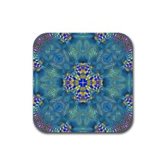 Tile Background Image Graphic Rubber Square Coaster (4 Pack)