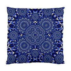 Farbenpracht Kaleidoscope Blue Standard Cushion Case (two Sides)