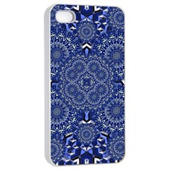 Farbenpracht Kaleidoscope Blue Apple Iphone 4/4s Seamless Case (white)