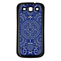 Farbenpracht Kaleidoscope Blue Samsung Galaxy S3 Back Case (black)