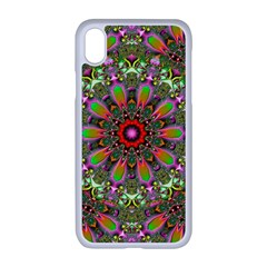Fractal Image  Background Apple Iphone Xr Seamless Case (white)
