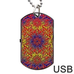 Background Image  Wall Design Dog Tag Usb Flash (one Side)