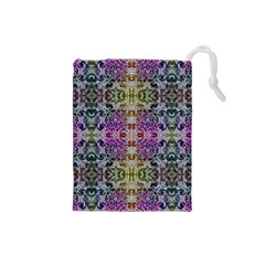 Background Image Pattern Drawstring Pouch (small)