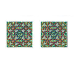 Farbenpracht Kaleidoscope Art Cufflinks (square)