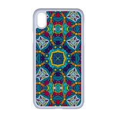 Farbenpracht Kaleidoscope Art Apple Iphone Xr Seamless Case (white)