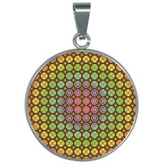 Tile Background Image Pattern Art 30mm Round Necklace