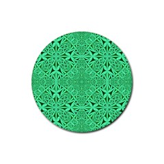 Triangle Background Pattern Rubber Round Coaster (4 Pack)