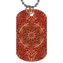 Tile Background Image Pattern 3d Red Dog Tag (one Side)