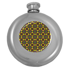 Background Image Ornament Round Hip Flask (5 Oz)