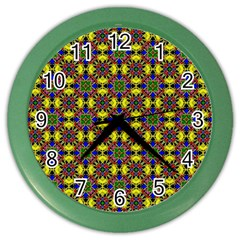 Background Image Ornament Color Wall Clock