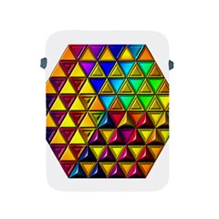 Cube Diced Tile Background Image Apple Ipad 2/3/4 Protective Soft Cases