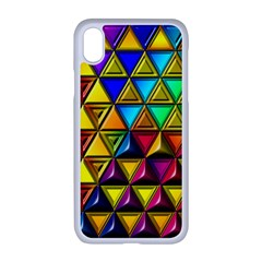 Cube Diced Tile Background Image Apple Iphone Xr Seamless Case (white)