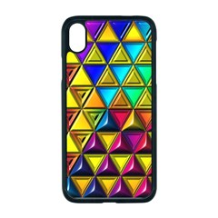 Cube Diced Tile Background Image Apple Iphone Xr Seamless Case (black)