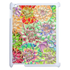Dahlia Flower Colorful Art Collage Apple Ipad 2 Case (white)
