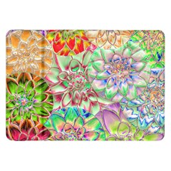 Dahlia Flower Colorful Art Collage Samsung Galaxy Tab 8 9  P7300 Flip Case by Pakrebo