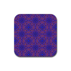 Tile Background Image Pattern Purple Blue Rubber Coaster (square)