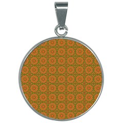 Background Design Background Image 30mm Round Necklace