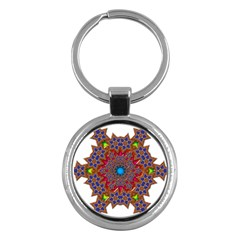 Tile Background Image Pattern Key Chains (round)