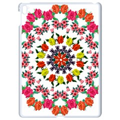 Tile Background Image Color Pattern Flowers Apple Ipad Pro 9 7   White Seamless Case