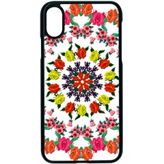 Tile Background Image Color Pattern Flowers Apple Iphone Xs Seamless Case (black) by Pakrebo