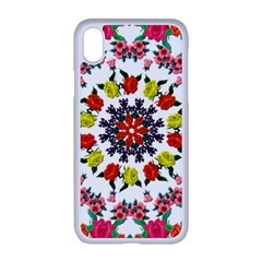 Tile Background Image Color Pattern Flowers Apple Iphone Xr Seamless Case (white)