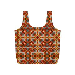 Tile Background Image Pattern Full Print Recycle Bag (s) by Pakrebo