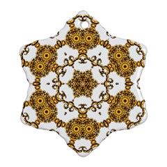 Fractal Tile Construction Design Ornament (snowflake)