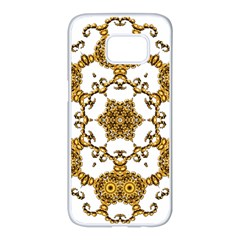 Fractal Tile Construction Design Samsung Galaxy S7 Edge White Seamless Case