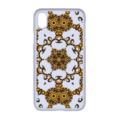 Fractal Tile Construction Design Apple Iphone Xr Seamless Case (white)