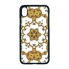 Fractal Tile Construction Design Apple Iphone Xr Seamless Case (black)