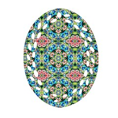 Tile Background Pattern Pattern Oval Filigree Ornament (two Sides)