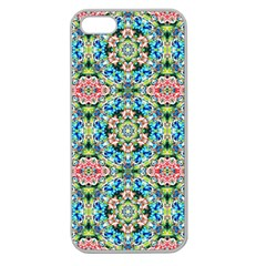 Tile Background Pattern Pattern Apple Seamless Iphone 5 Case (clear)