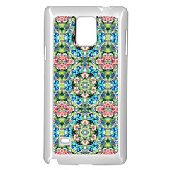 Tile Background Pattern Pattern Samsung Galaxy Note 4 Case (white)