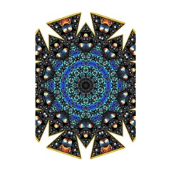 Fractal Tile Kaleidoscope Design Shower Curtain 48  X 72  (small)