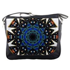 Fractal Tile Kaleidoscope Design Messenger Bag