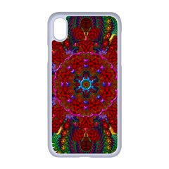 Mandala Fractal Graphic Design Apple Iphone Xr Seamless Case (white)