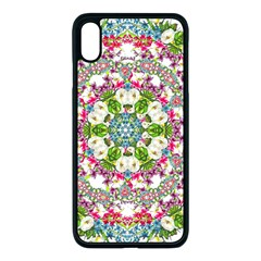 Floral Wreath Tile Background Image Apple Iphone Xs Max Seamless Case (black)