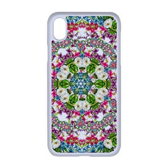 Floral Wreath Tile Background Image Apple Iphone Xr Seamless Case (white)
